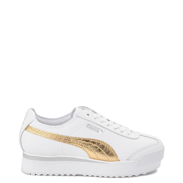 Womens Puma Roma Amor Platform Athletic Shoe - White / Gold