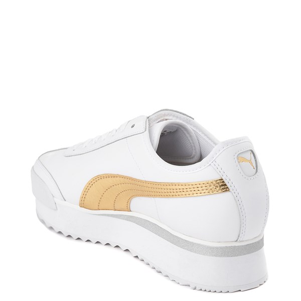 alternate view Womens Puma Roma Amor Platform Athletic Shoe - White / GoldALT2