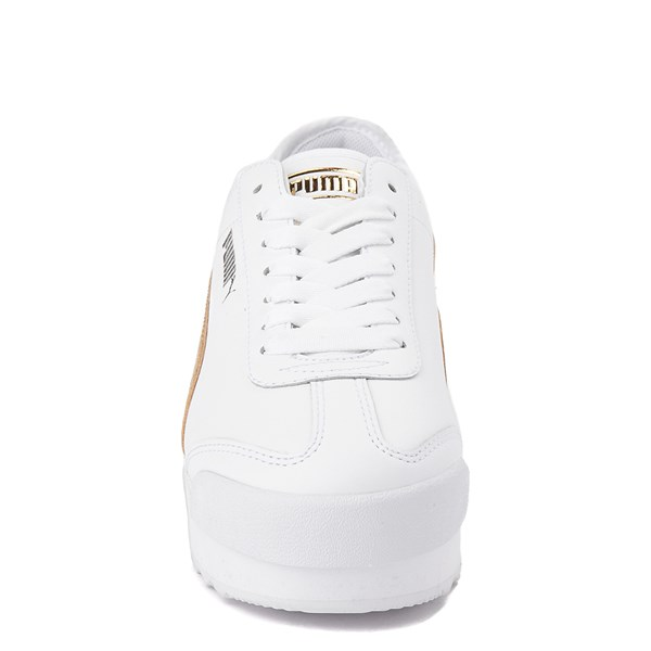 alternate view Womens Puma Roma Amor Platform Athletic Shoe - White / GoldALT4