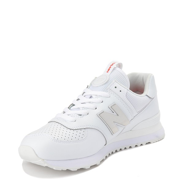 alternate view Mens New Balance 574 Metal Athletic Shoe - WhiteALT2
