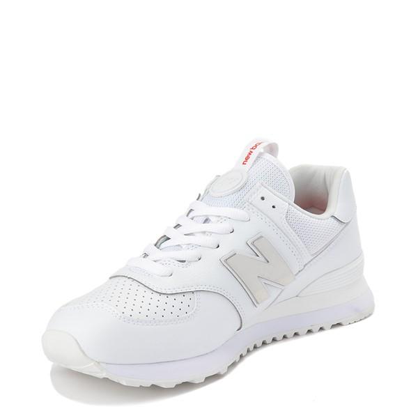alternate view Mens New Balance 574 Metal Athletic Shoe - WhiteALT2
