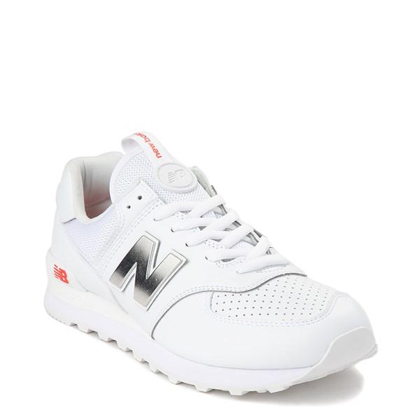 alternate view Mens New Balance 574 Metal Athletic Shoe - WhiteALT5