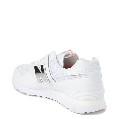 Alternate view of Mens New Balance 574 Metal Athletic Shoe - White