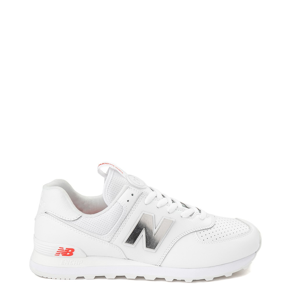 Mens New Balance 574 Metal Athletic Shoe - White