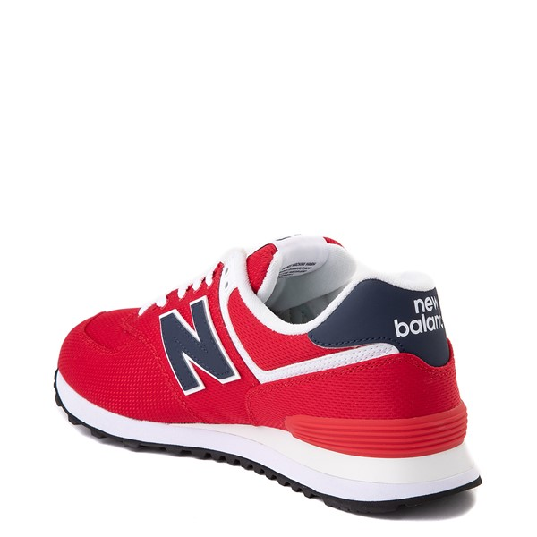 alternate view Mens New Balance 574 Summer Mesh Athletic Shoe - Red / NavyALT1