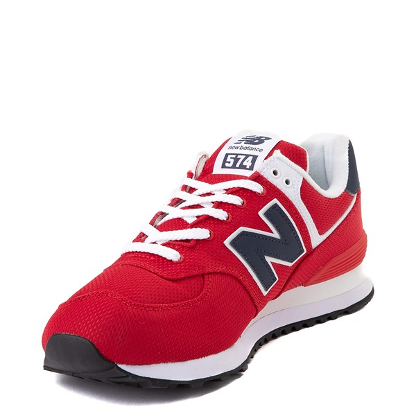alternate view Mens New Balance 574 Summer Mesh Athletic Shoe - Red / NavyALT2