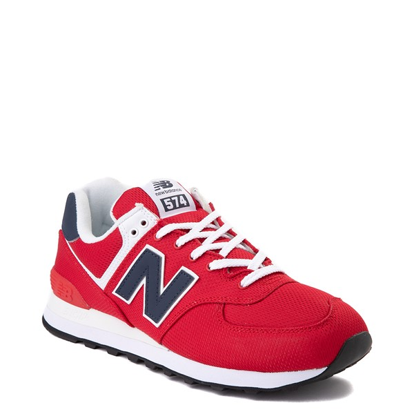 alternate view Mens New Balance 574 Summer Mesh Athletic Shoe - Red / NavyALT5