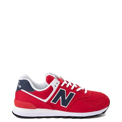 Main view of Mens New Balance 574 Summer Mesh Athletic Shoe - Red / Navy