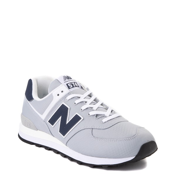 alternate view Mens New Balance 574 Summer Mesh Athletic Shoe - Gray / NavyALT5
