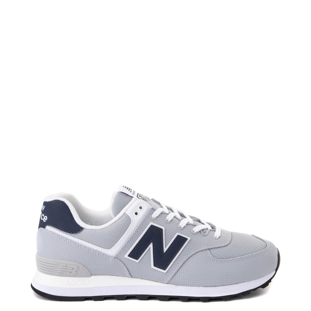 Mens New Balance 574 Summer Mesh Athletic Shoe - Gray / Navy