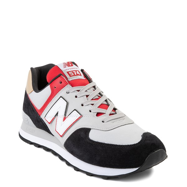 alternate view Mens New Balance 574 Split Sail Athletic Shoe - Black / Gray / RedALT1