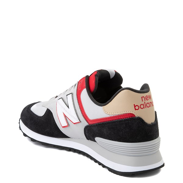 alternate view Mens New Balance 574 Split Sail Athletic Shoe - Black / Gray / RedALT2