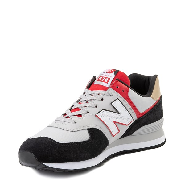 alternate view Mens New Balance 574 Split Sail Athletic Shoe - Black / Gray / RedALT3
