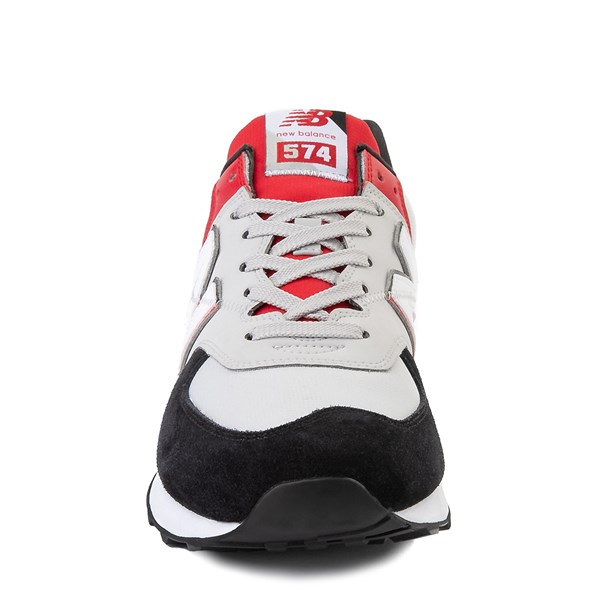 alternate view Mens New Balance 574 Split Sail Athletic Shoe - Black / Gray / RedALT4