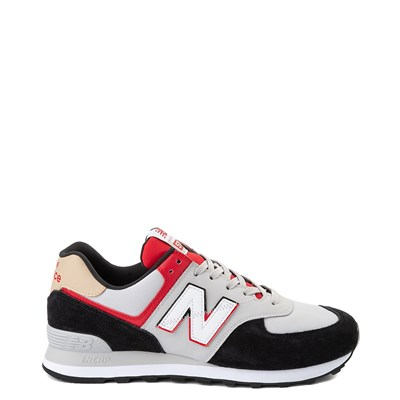 Main view of Mens New Balance 574 Split Sail Athletic Shoe - Black / Gray / Red