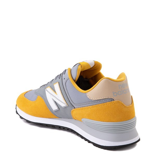 alternate view Mens New Balance 574 Split Sail Athletic Shoe - Yellow / GreyALT2