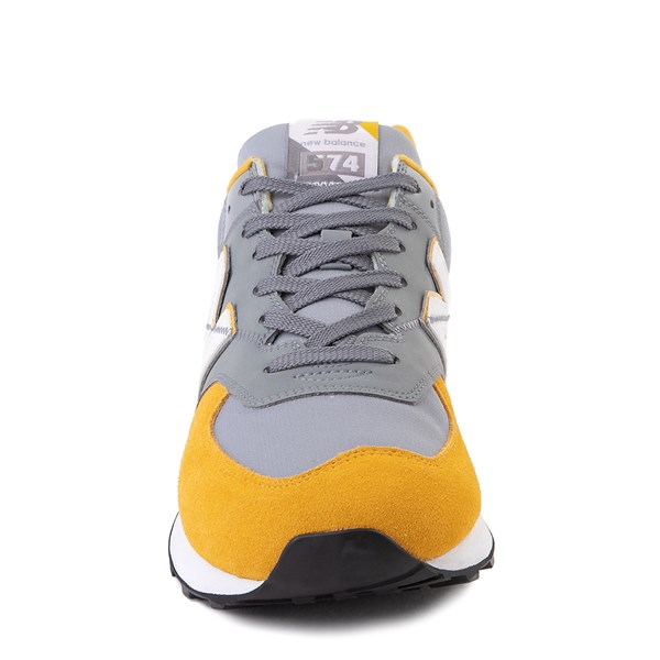 alternate view Mens New Balance 574 Athletic Shoe - Yellow / GreyALT4