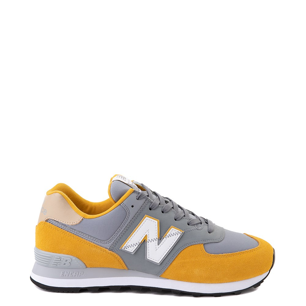 Mens New Balance 574 Athletic Shoe - Yellow / Grey