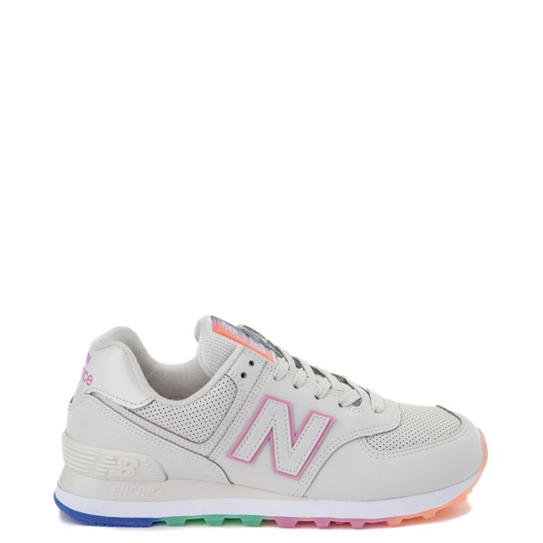 Womens New Balance 574 Outer Glow Athletic Shoe - Stone / Multi