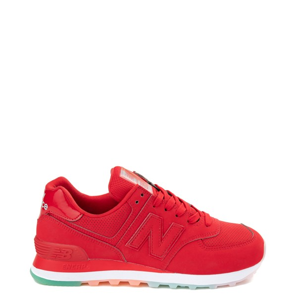 Womens New Balance 574 Outer Glow Athletic Shoe - Red / Multi