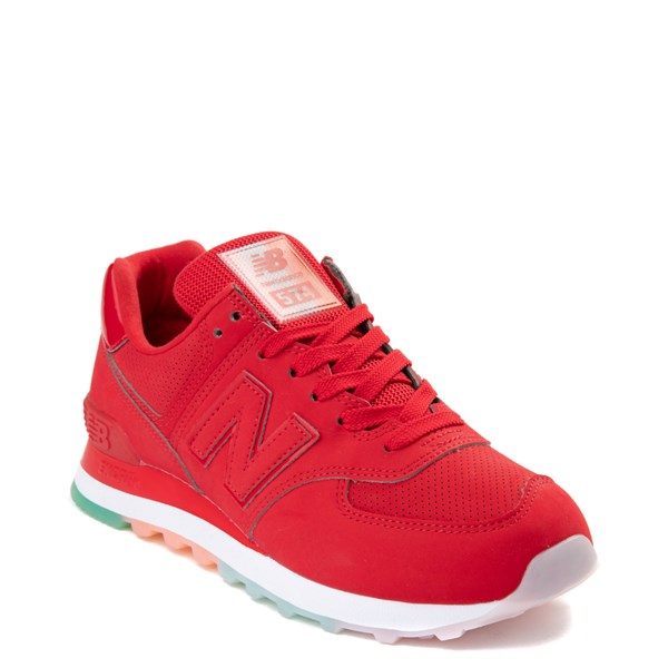 alternate view Womens New Balance 574 Outer Glow Athletic Shoe - Red / MultiALT1