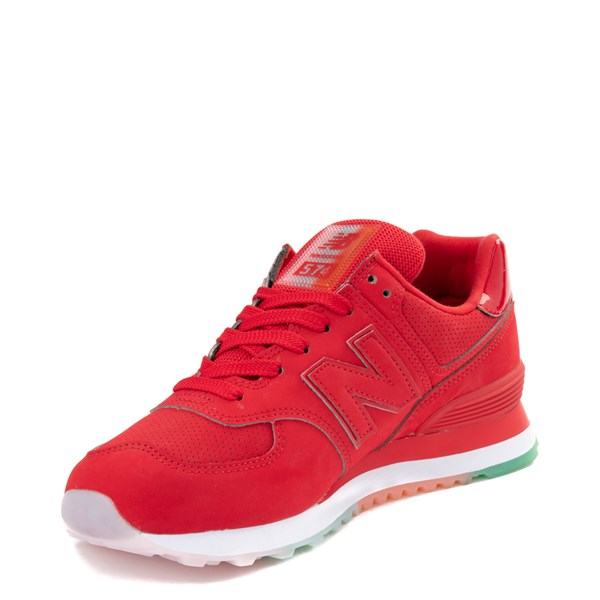 alternate view Womens New Balance 574 Outer Glow Athletic Shoe - Red / MultiALT3