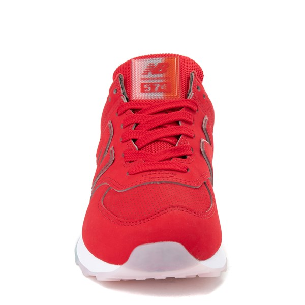 alternate view Womens New Balance 574 Outer Glow Athletic Shoe - Red / MultiALT4
