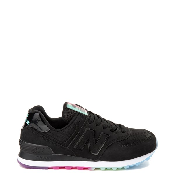 Womens New Balance 574 Outer Glow Athletic Shoe - Black / Multi