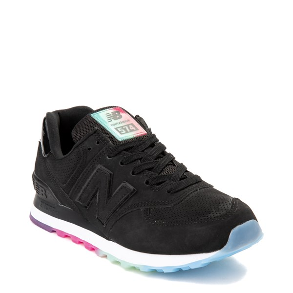 alternate view Womens New Balance 574 Outer Glow Athletic Shoe - Black / MultiALT1
