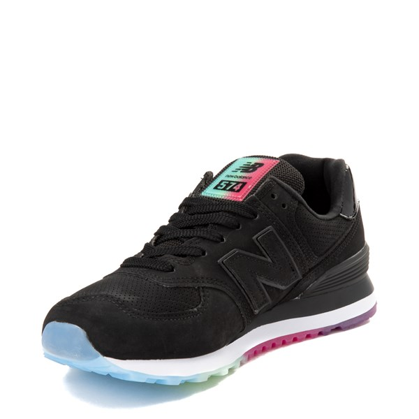 alternate view Womens New Balance 574 Outer Glow Athletic Shoe - Black / MultiALT3