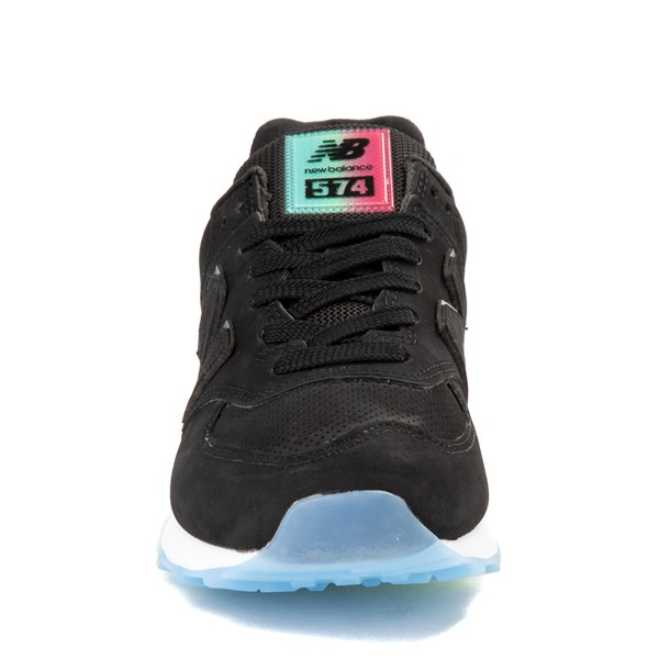 alternate view Womens New Balance 574 Outer Glow Athletic Shoe - Black / MultiALT4