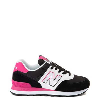 Main view of Womens New Balance 574 Split Sail Athletic Shoe - Black / Pink