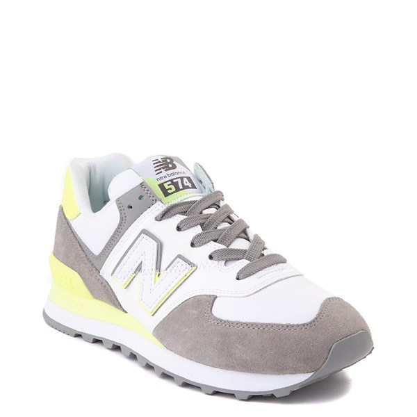 alternate view Womens New Balance 574 Split Sail Athletic Shoe - Gray / YellowALT1