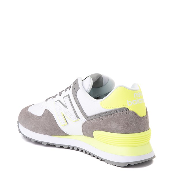 alternate view Womens New Balance 574 Split Sail Athletic Shoe - Gray / YellowALT2