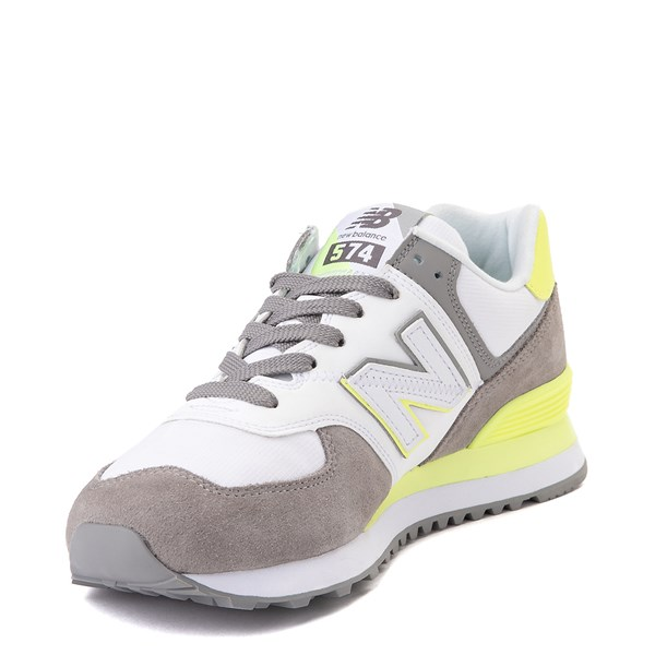 alternate view Womens New Balance 574 Split Sail Athletic Shoe - Gray / YellowALT3