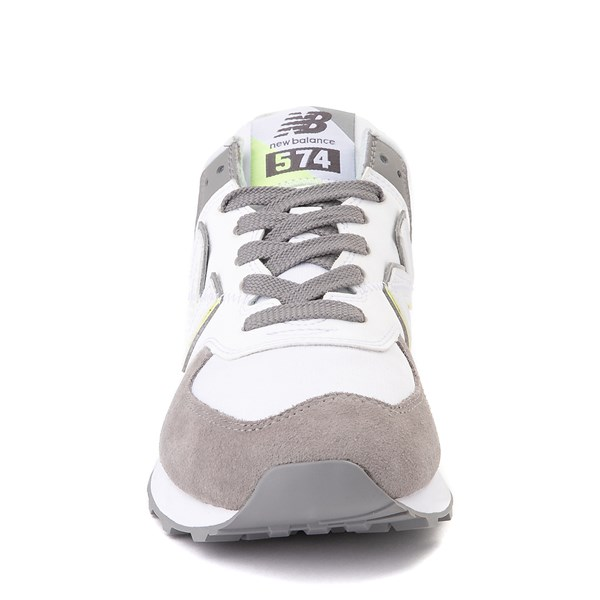 alternate view Womens New Balance 574 Split Sail Athletic Shoe - Gray / YellowALT4