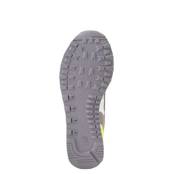 alternate view Womens New Balance 574 Split Sail Athletic Shoe - Gray / YellowALT5