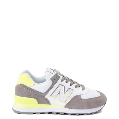Main view of Womens New Balance 574 Split Sail Athletic Shoe - Gray / Yellow