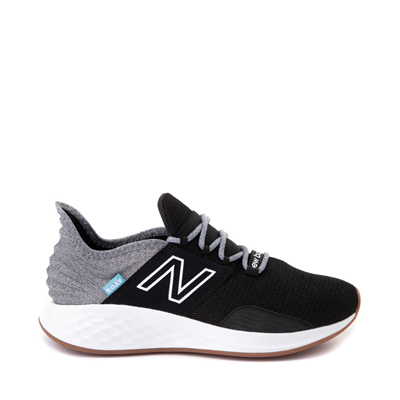 Main view of Womens New Balance Fresh Foam Roav Athletic Shoe - Black / Light Aluminum