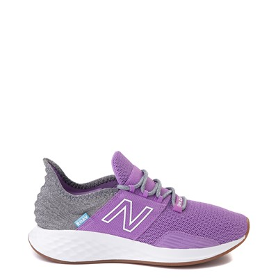 Main view of Womens New Balance Fresh Foam Roav Athletic Shoe - Neo Violet / Light Aluminum