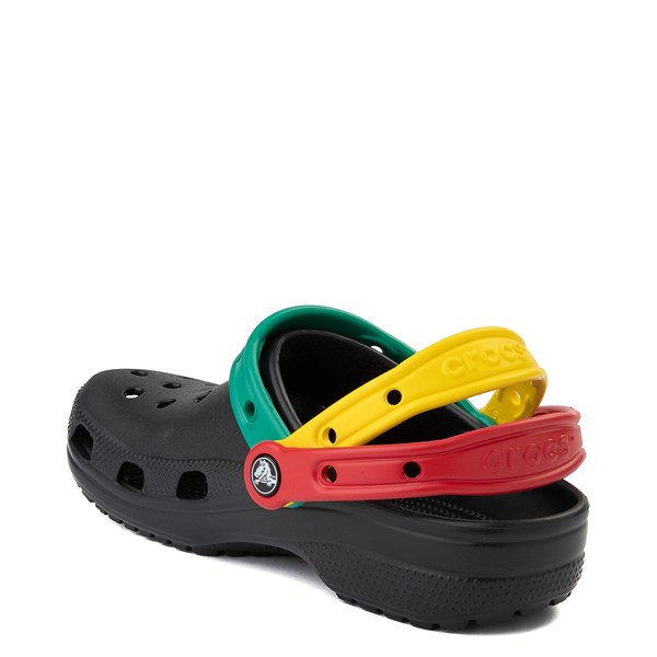 alternate view Crocs Classic Triple Strap Clog - Black / MultiALT2