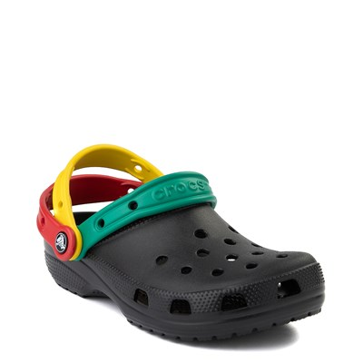 Alternate view of Crocs Classic Triple Strap Clog - Black / Multi