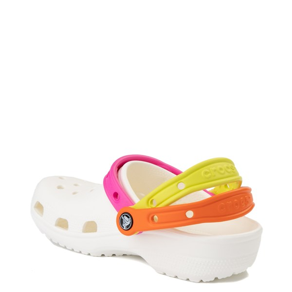 alternate view Crocs Classic Triple Strap Clog - White / MultiALT2