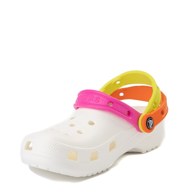 alternate view Crocs Classic Triple Strap Clog - White / MultiALT3