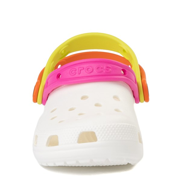 alternate view Crocs Classic Triple Strap Clog - White / MultiALT4