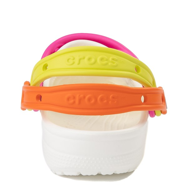 alternate view Crocs Classic Triple Strap Clog - White / MultiALT6