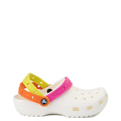 Main view of Crocs Classic Triple Strap Clog - White / Multi