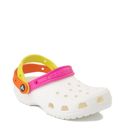 Alternate view of Crocs Classic Triple Strap Clog - White / Multi