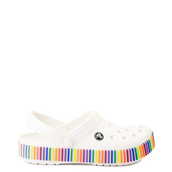 Main view of Crocs Classic Color Spectrum Clog - White