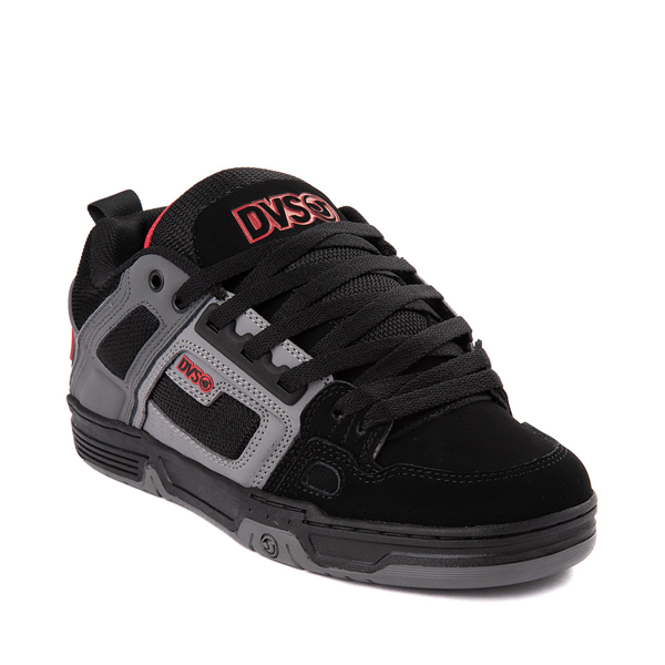alternate view Mens DVS Comanche Skate Shoe - Black / Gray / RedALT1